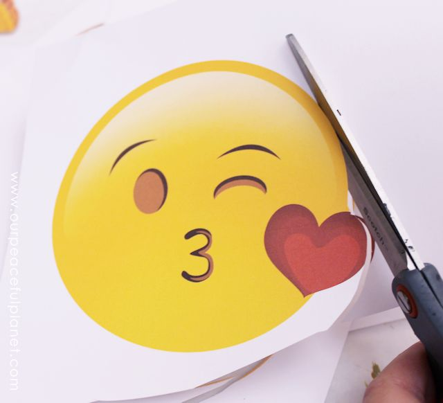 Free Emoji Fans Made from CDs with Printable 4