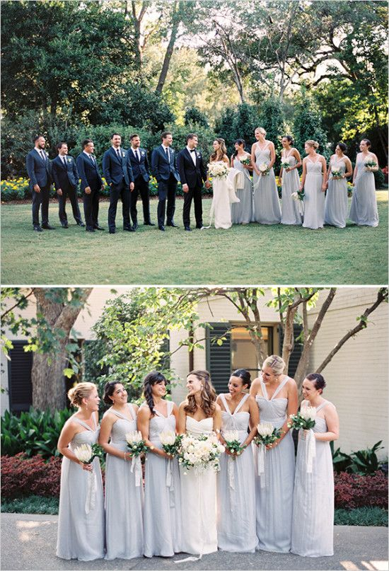 dusty blue bridesmaid dresses @weddingchicks