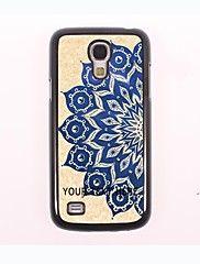 gepersonaliseerde telefoon geval - de helft van de blauwe lotus ontwerp metalen behuizing voor Samsung Galaxy S4