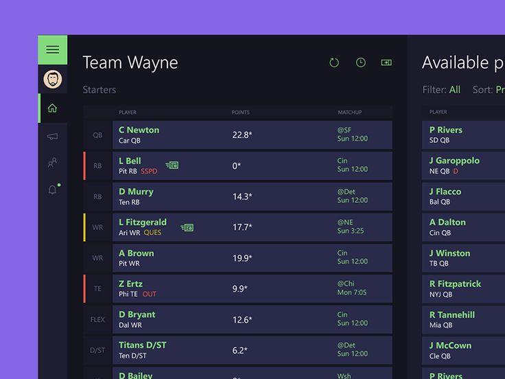 Fantasy Football App by Jordan Nelson