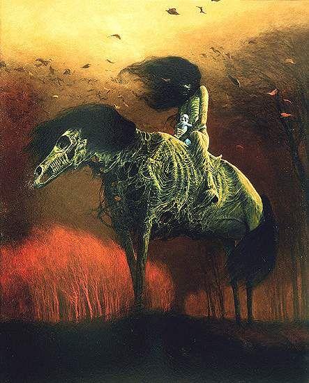 All the Pretty Little Horses - art by Zdzislaw Beksinski