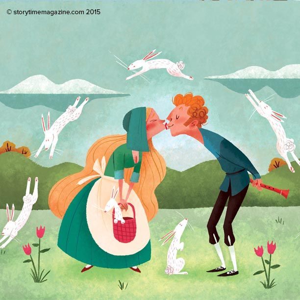 A fun hero! Read Hans the Rabbit Herder in Storytime Issue 12. Illustrations by David DePasquale (http://davedepasquale.blogspot.co.uk) ~ STORYTIMEMAGAZINE.COM