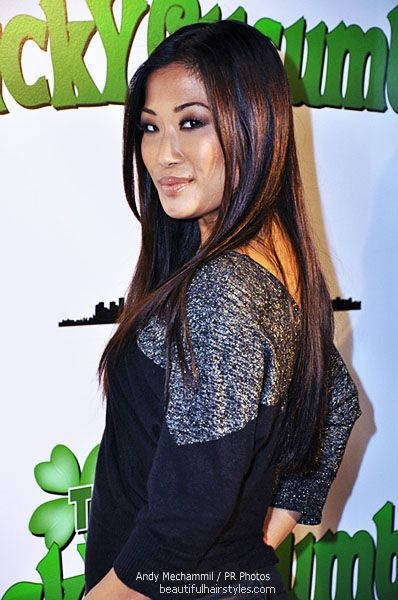 Lena Yada in Simple Asian American Hairstyle with Wide Panels of Color for Highlights