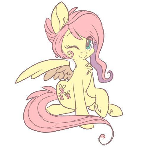 Cute Fluttershy wink