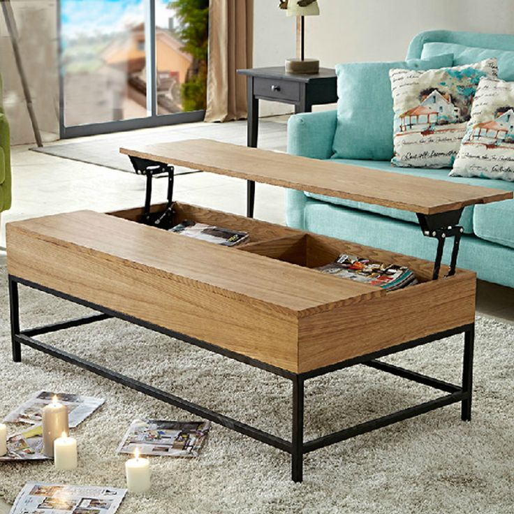 However gifted American retro wood home furniture creative foldable home living room coffee table, wrought iron wood coffee tabl-in Coffee Tables from Furniture on Aliexpress.com | Alibaba Group