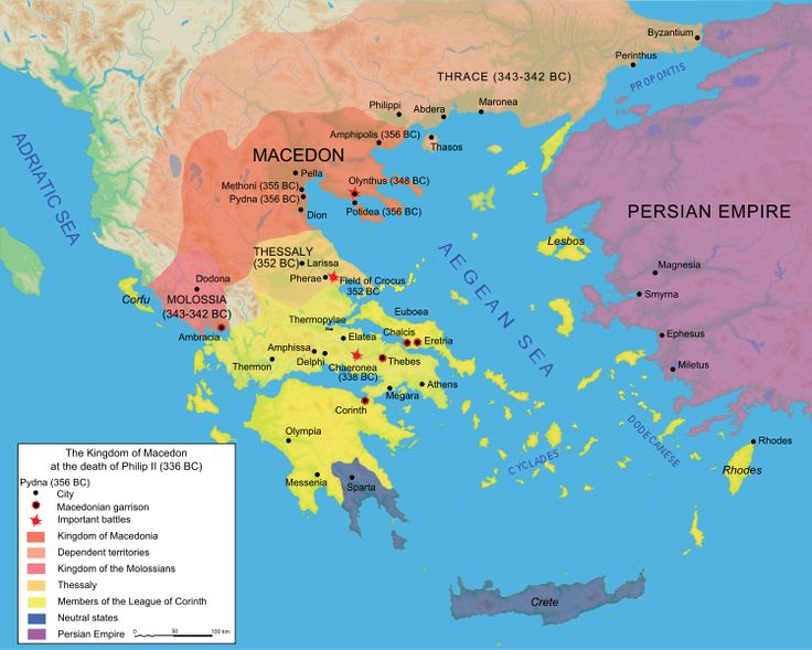 17 best history images on pinterest ancient greece greece and history the kingdom of macedon at the death of philip ii 336 bc greek historyancient gumiabroncs Images