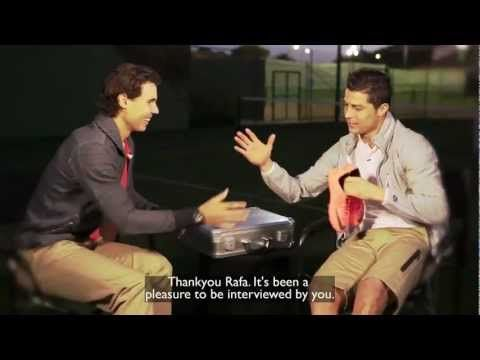 Sports : Rafael Nadal interview with Cristiano Ronaldo (english subtitles)   Tennis and Soccer!  Great Team.