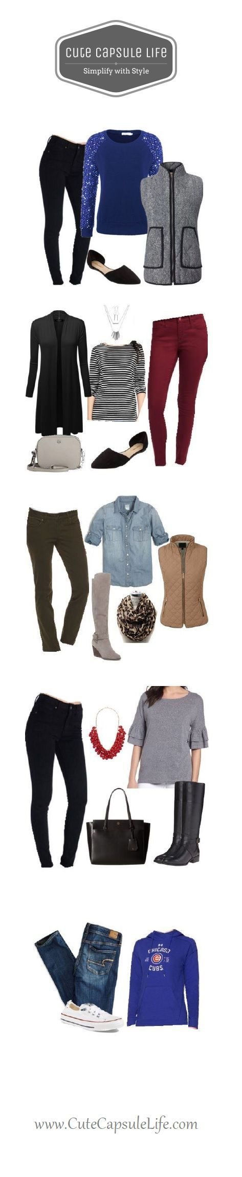 Fall Capsule Wardrobe: 80 outfits from 24 items