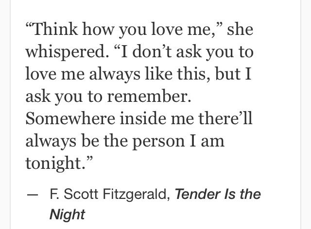 sudden love as an element of self destruction in f scott fitzgeralds tender is the night The biggest difference in reading tender is the night as a serial is that the manic reaching and self-negation have f scott fitzgerald, tender is the night.