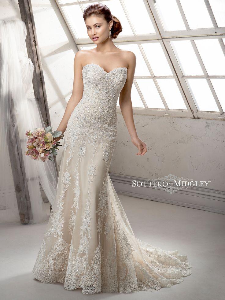 Fabulous Tulle V-neck Neckline Mermaid Wedding Dresses With Lace ...