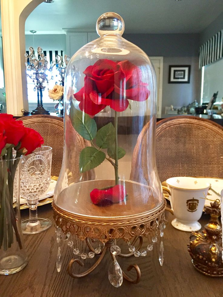 Be Our Guest dinner party!  Beauty and the Beast - enchanted rose