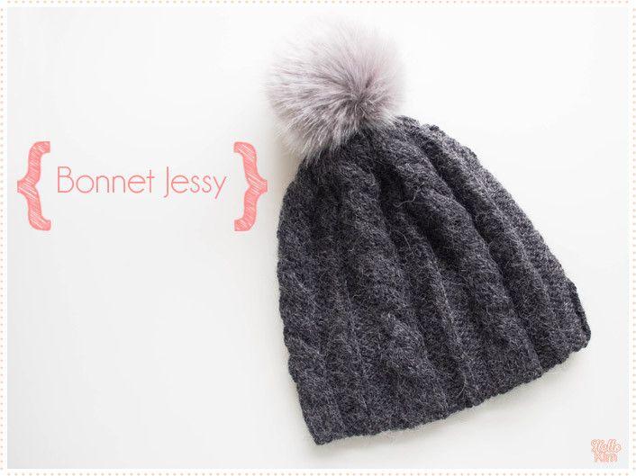 Tricot Le bonnet Jessy à torsades « Hello Kim !