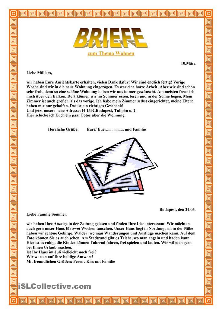 Offizielle Briefe Schreiben Wortschatz : Besten bierf bilder auf pinterest deutsch lernen