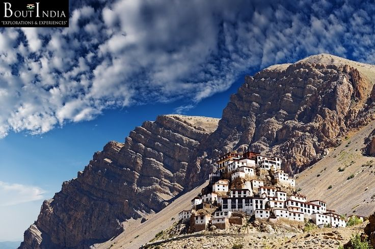 Kee Gompa, Himachal Pradesh, India - the majestic Buddhist monastery awesomely located in high Himalayas. Look at their place of worship!!! No wonder, why Buddhism is most peaceful religion in the world. #KeeGompa #HimachalPradesh #India #Himalayas #Worship #Buddhism