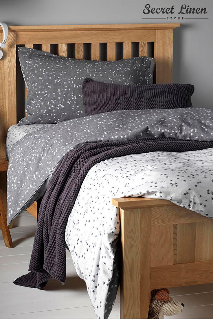 Buy The Secret Linen Store Grey Star Duvet Set from the Next UK online shop