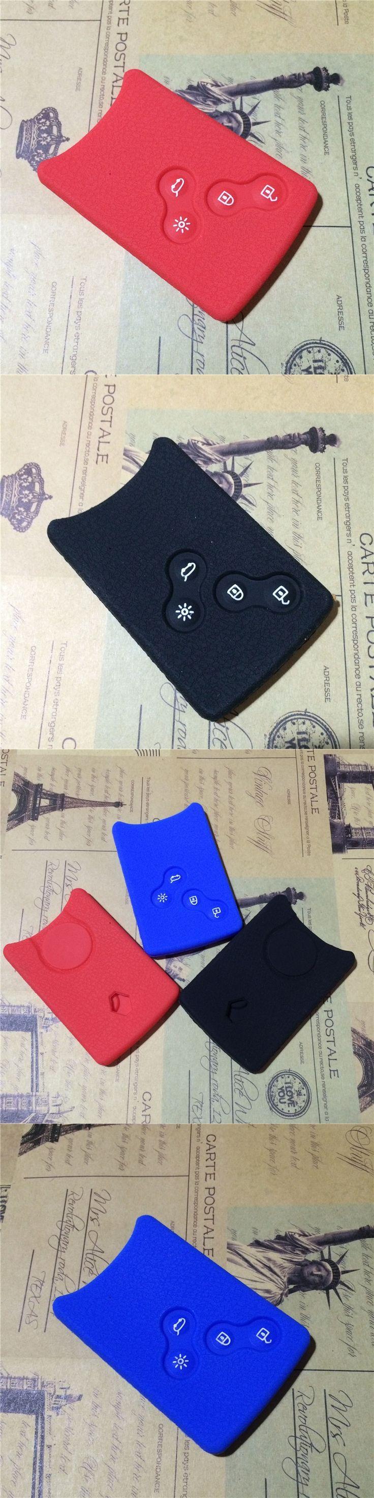 for Renault Clio Scenic Megane Duster Sandero Captur Twingo koleos remote silicone key cover case 4 buttons wallet holder