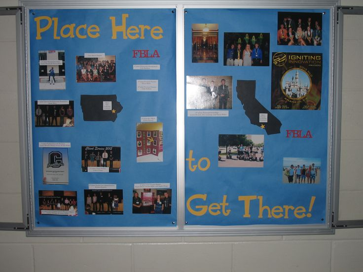 Bulletin board promoting the Iowa State Leadership Conference