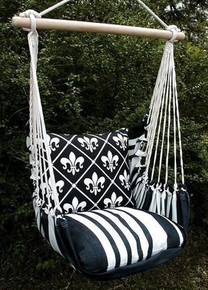 Black French Quarter Hammock Chair Swing Set In 2019 Back Yard