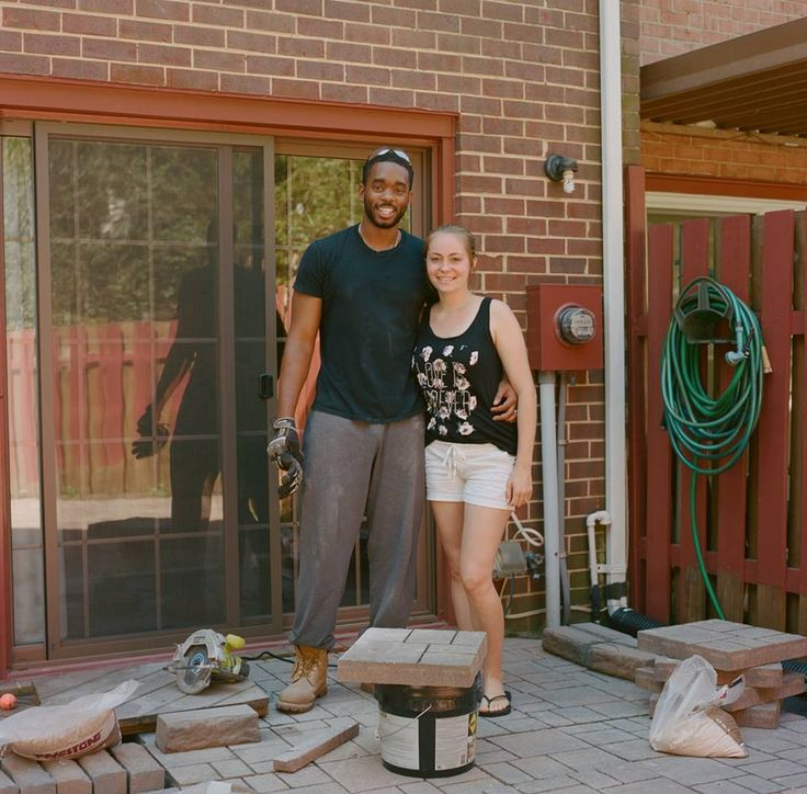 """I pin a lot of small backyard designs and we saw these ideas for stone patios. So we went to Home Depot and found stones that we loved. It was amazing. Pinterest led us to that idea. We're definitely not professionals, but Pinterest inspired us to be creative and feel capable""-- Michael in Alexandria, Virginia"