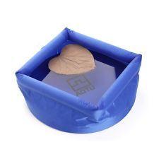 Lavabo Portátil Plegable Inflable de agua al aire libre bolsa de lavado R1H9 Azul De Pesca
