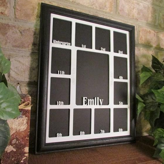 School Years Picture Frame With Name Black White