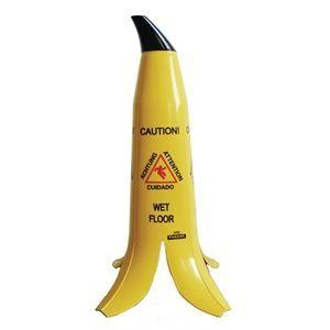"""Señal de precaución """"Suelo mojado"""" en forma de plátano Banana Products"""