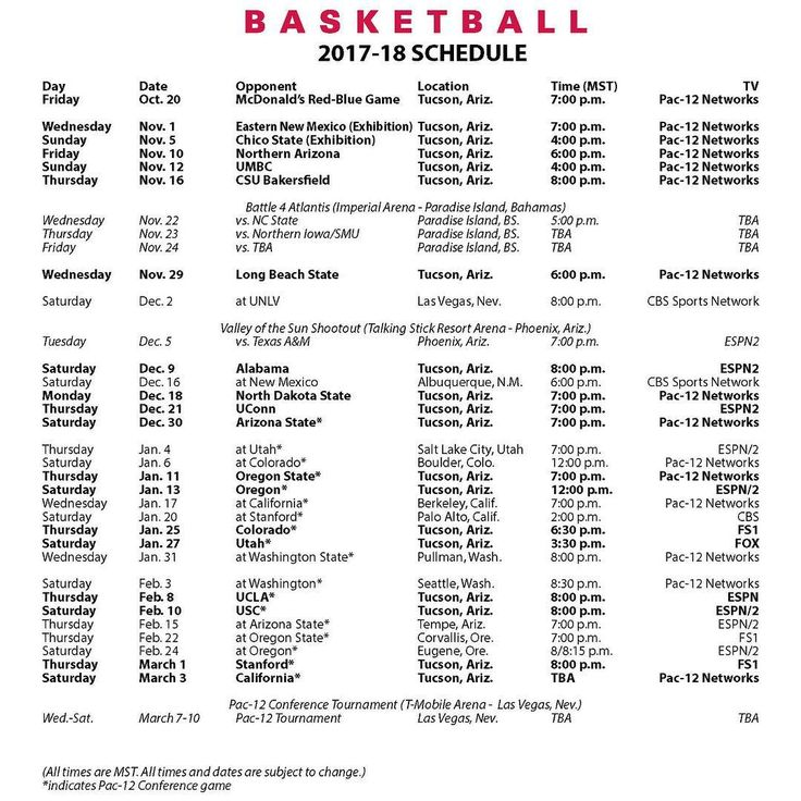 "2,832 Likes, 63 Comments - Arizona Basketball (@aplayersprogram) on Instagram: ""The schedule is officially out. #APlayersProgram"""