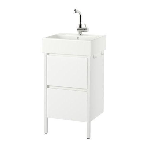 IKEA - YDDINGEN, Kommod med 2 lådor, , Krokar för handdukar eller andra saker du vill ha nära till hands.Skåp har integrerade handtag vilket ger en slät yta som är enkel att torka av.Lättrullande och mjukstängande lådor med utdragsstopp.Du kan snabbt se och nå innehållet eftersom lådorna går att dra hela vägen ut.Det medföljande vattenlåset kan enkelt anslutas till avlopp, tvättmaskin och torktumlare eftersom det är böjbart.Speciellt utformat vattenlås gör det möjligt att få plats med…