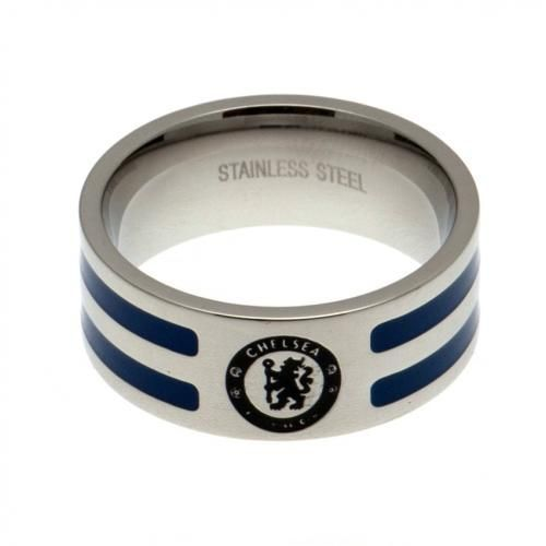 Chelsea FC Ring with Colour Stripe (M)   CFC Merchandise   Gifts Shop