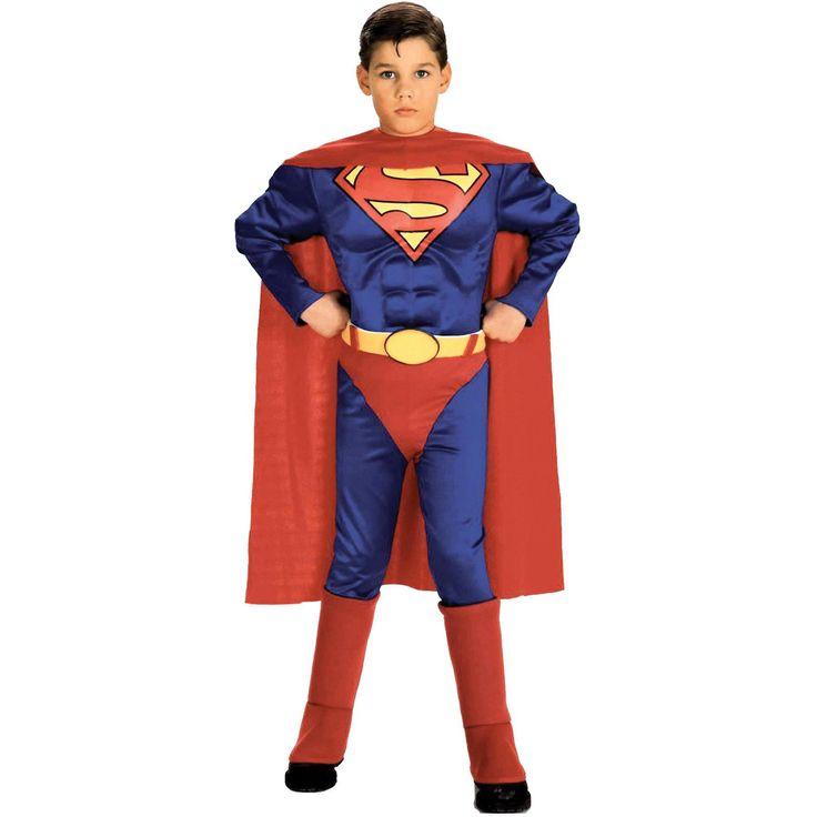 Superman Child W Chest Lg