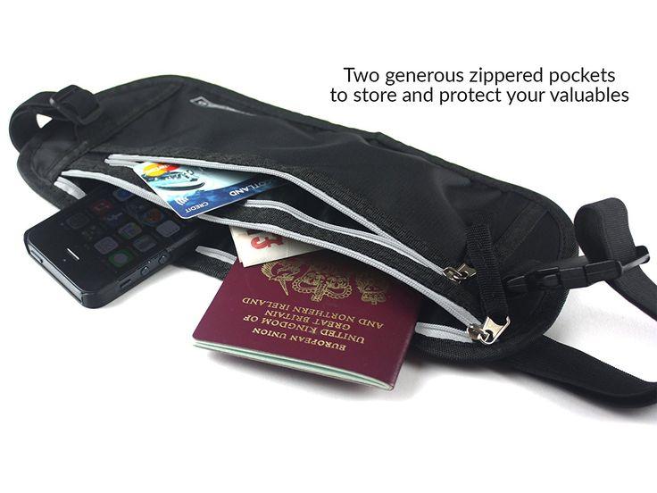 RIÑONERA DE VIAJE Y PLAYA PARA GUARDAR DINERO - Cinturón Porta Dinero Oculto Para Viajes Protege Sus Objetos De Valor Con Total Tranquilidad: Amazon.es: Equipaje