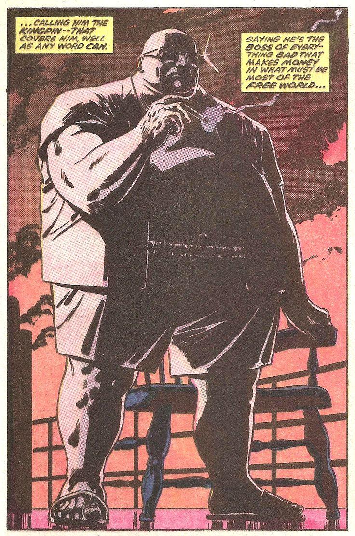 """The Kingpin"" - Daredevil N°227 (1986) by David Mazzucchelli"