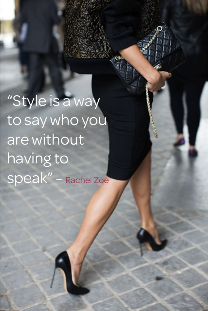 Style is a way to say who you are without having to speak.