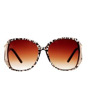 Image 2 ofRiver Island Kim Brown Leopard Sunglasses