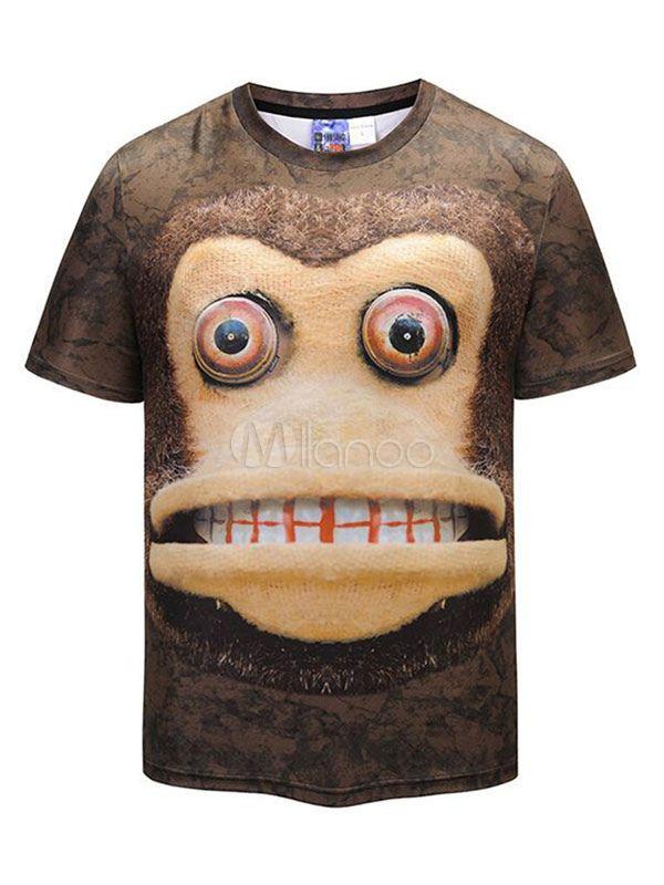 Mens Designer Top Round Neck Short Sleeved Stylish Casual T-shirt 2018//19