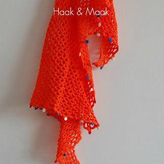 Haak & Maak: Oranje sjaal haken voor Koningsdag