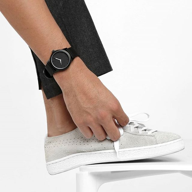 Think in black. The watch, TRIWAxSTAMPD, completely designed in black, minimalistic and sleek. Shop at TRIWA.com!