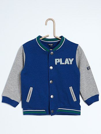 Sweater in campusstijl                             bleu foncé Jongens babykleding  - Kiabi