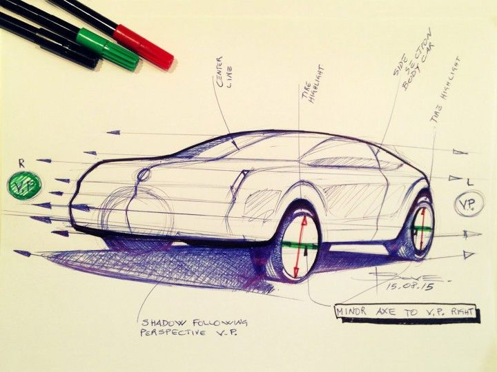 Car sketching tips: drawing wheels in perspective by Luciano Bove