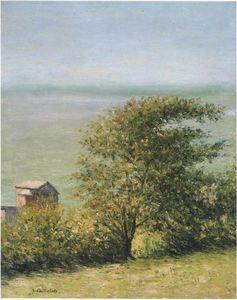 La mer à Villerville - (Gustave Caillebotte)