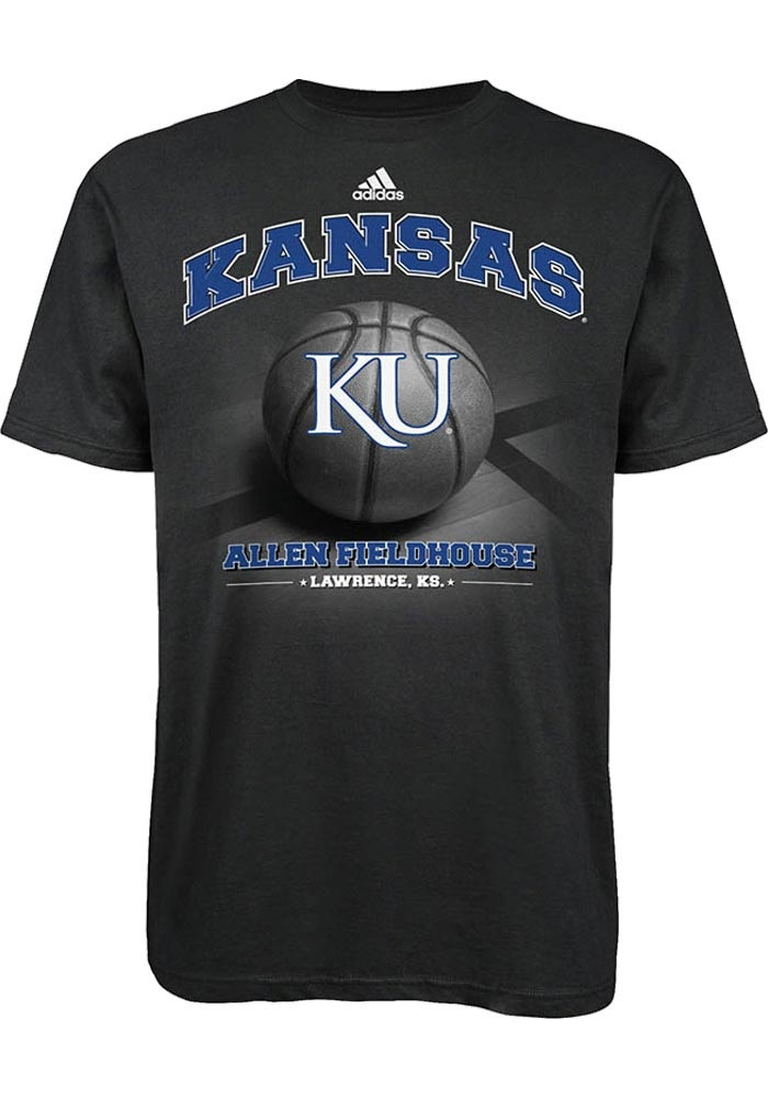 Kansas Jayhawks Adidas T-Shirt - Mens Black Allen Fieldhouse T-Shirt http://www.rallyhouse.com/adidas-ku-jayhawks-mens-black-fieldhouse-short-sleeve-tee-14853954?utm_source=pinterest&utm_medium=social&utm_campaign=Pinterest-KUJayhawks $22.00