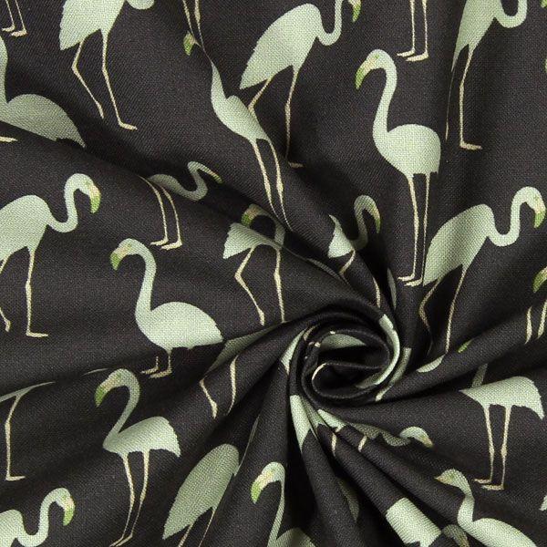Kreton Plameňák 5 - Bavlna - mátově zelená
