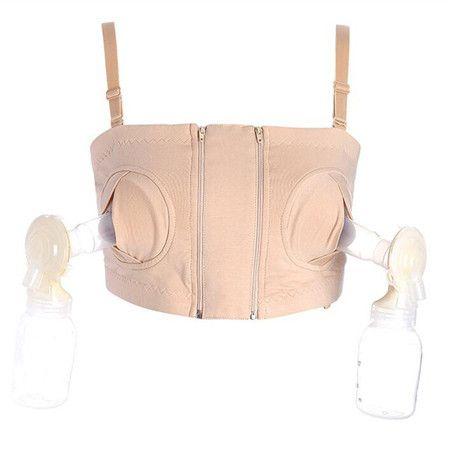 2017 New Women Hands-Free Maternity Breast Pump Bra Breastfeeding Nursing Bra Pumping Milk Bra Cotton Spandex Black Pink