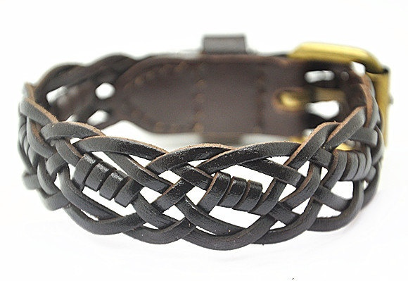 Real Soft Brown Leather Women's Leather Jewelry Bangle Cuff Bracelet Men's Leather Bracelet  RZ0068. $8.00, via Etsy.