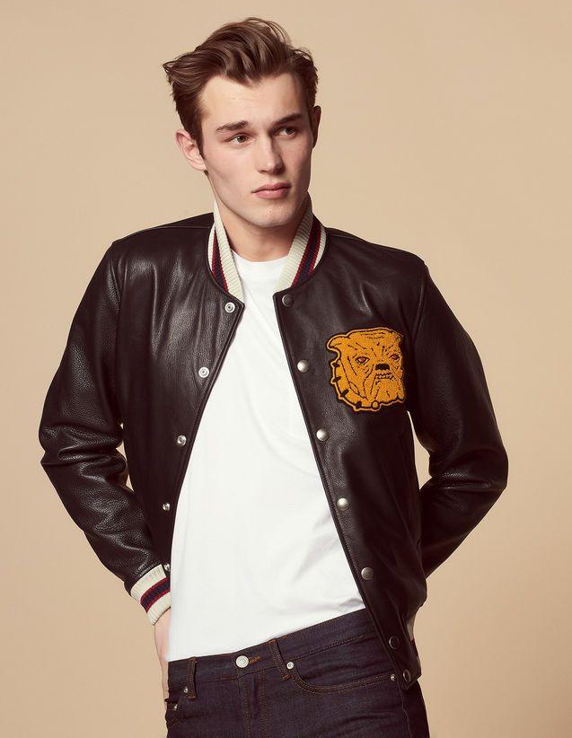 80ff8975b Varsity, Black, | sandro-paris.com | Liam Grae // Style | Leather ...