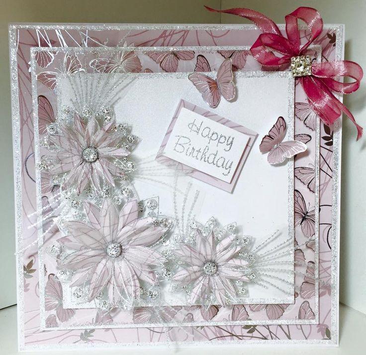 Flower Card Making Ideas Part - 50: Chloeu0027s Creative Cards On Hochanda #ChloeEndean #Papercraft #Cardmaking  #Crafts #Hobbies #