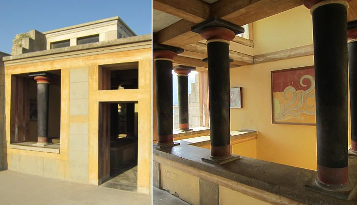 Reconstruction of hall on second floor of palace