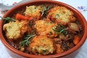 Chorley Cakes: Recipe: SHORT RIB STEW AND PARSLEY DUMPLINGS old fashioned comfort dinner