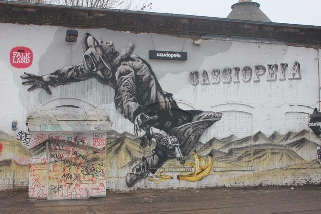 HIP - De ingang van Cassiopeia is aangegeven met een gigantische tekening.