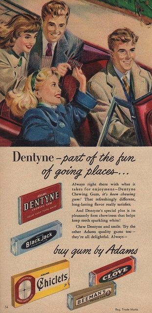 Out for a ride with the gang?  Pass around the Dentyne!  It's part of the fun!